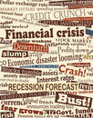 Financial crisis headlines Stock Photo