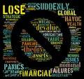 Financial Crisis. Recession. Concern. Royalty Free Stock Photo