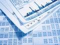 Financial diagram Stock Photos