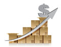 Financial dollar box graph illustration design Royalty Free Stock Image