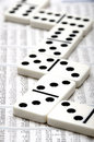 Financial domino Stock Photo