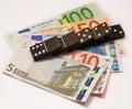 Financial domino Royalty Free Stock Image
