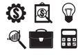 Financial examiner icon. Economic statistic icon. Vector illustr