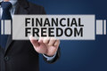 FINANCIAL FREEDOM Royalty Free Stock Photo