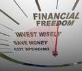 Financial Freedom Speedometer Invesment Savings Money Royalty Free Stock Photo