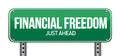 Financial freedom street sign Stock Images