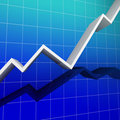 Financial graph background Royalty Free Stock Photo