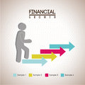 Financial growth over dotted background vector illustration Stock Image