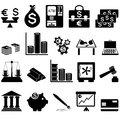 Financial icon set twenty items vector illustration Royalty Free Stock Photography