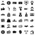 Financial incentives icons set, simple style Royalty Free Stock Photo