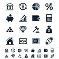 Financial investment icons simple clear and sharp easy to resize no transparency effect eps file Stock Photo