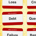 Financial name tags Royalty Free Stock Photo