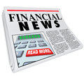 Financial News Finance Reporting Newspaper Advice Royalty Free Stock Photo