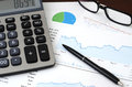 Financial Planning or SEO Concept - Sales or Visitors Report and Graphs Analysis