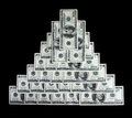 Financial pyramid Royalty Free Stock Photo