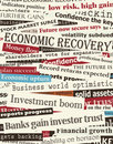 Financial recovery headlines Stock Photos
