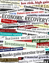Financial recovery headlines Royalty Free Stock Photography
