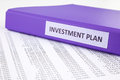 Financial report for investment plan Royalty Free Stock Photo