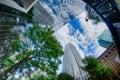 Financial skyscraper buildings in Charlotte  North Carolina USA Royalty Free Stock Photo