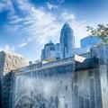 Financial skyscraper buildings in Charlotte North Carolina Royalty Free Stock Photo