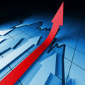 Financial stat arrows Royalty Free Stock Photo
