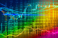 Financial stock market data. Candle stick graph chart of stock m Royalty Free Stock Photo