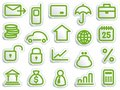 Financial symbols Stock Images