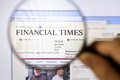Financial times Fotografia Royalty Free