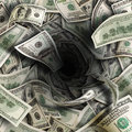 Financial tunnel of dollar bills Royalty Free Stock Photo