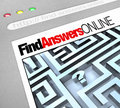 Find Answers Online - Web Screen Royalty Free Stock Photo