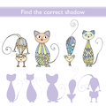 Find the correct shadow (cats) Royalty Free Stock Photo