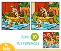 Find differences education game, Six dogs