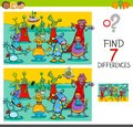 Find differences game with aliens characters Royalty Free Stock Photo