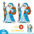 Find differences, game for children, Ded Moroz, Father Frost