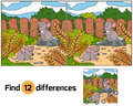 Find differences mice game for children Stock Photo
