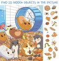 Find 20 hidden objects in the picture. Hamsters in a cage Royalty Free Stock Photo