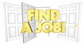 Find a Job Look for Work Open Doors Words