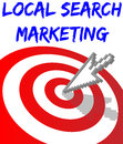 Find local search targeted marketing arrow website target Royalty Free Stock Image