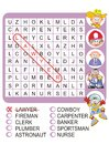 Find the nine professions - Word search game Royalty Free Stock Image