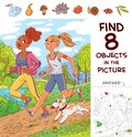 Find 8 objects in the picture. Two girls jogging with a dog Royalty Free Stock Photo