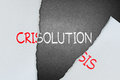 Find solution for crisis tear paper to out Stock Image