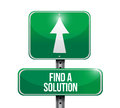 Find a solution road sign illustration design over white background Royalty Free Stock Photo