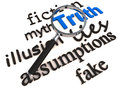 Find truth over lies and myth Royalty Free Stock Photo