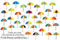 Find only two same umbrellas, fun education autumn puzzle game for children, preschool worksheet activity for kids, task for the d
