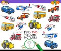 Find two the same vehicles activity game