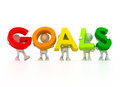 Find your goals d isolated group forming Stock Images
