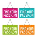 Find your Passion hanging Door Sign. Royalty Free Stock Photo