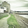 Findhorn path Royalty Free Stock Photo