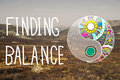 Finding Balance Yin-yang Wellbeing Concept Royalty Free Stock Photo