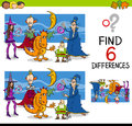 Finding differences game Royalty Free Stock Photo